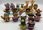 Lot Of 20 Mixed Fisher Price Little People And Animals - Princess Tiana Superman