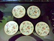 10 Wedgwood Georgetown Collection Devon Rose 6 Bread Plates Made In England