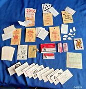 Vintage 1960s Johnson Smith Catalog Magic Trick Lot Elbee +insult Business Cards