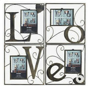 •nwt• Discontinued Pier One Imports • Wall Frames Set 4 Love Metal Retired 5x7