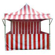 Commercial Red Carnival Tent With Sidewall 10x10 Pop Up Canopy Adjustable Height