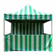 Commercial Green Carnival Tent With Sidewall 10x10 Pop Up Canopy 5 Height