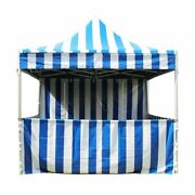 Commercial Blue Carnival Tent With Sidewall 10x10 Pop Up Canopy 5 Height