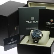 Tag Heuer Aquaracer Menand039s Watch Cak2112 Automatic Dial Color Blue W/warranty
