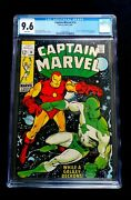 Captain Marvel 14 Cgc 9.6 White Pgs Classic Silver Age Iron Man Cover