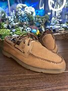 9.5 M Menand039s Sperry Top-sider Nautical Leather Boat Deck Shoes Size 0623728