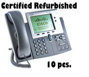 Lot Of 10 Cisco 7942g Cp-7942g Unified Ip Voip Phones Refurbished