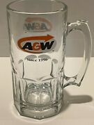 """Aandw Root Beer Since 1956 Glass Weighted English/french Logo X Large Tall 8"""" Mug"""
