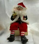 Telco Motionettes, Santa, Flickering Candle, Christmas Display Figure, Sitting O
