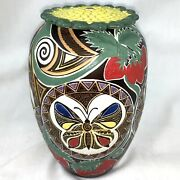 Santee Smith Pottery Covered Vase Mohawk 2-14 Delicate Medicine Talking Earth