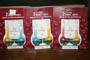 12 V Mini Bubble Christmas Lights 6 Bulbs New In Package