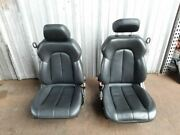 Mercedes 208 Clk Clk55 Front Seats Left Right Pair Black Seat Leather Electric