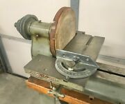 Vintage Delta Wood Lathe Sanding Disc And Table Attachment W Accessories