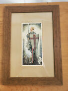Knight Templar Picture Glass Framed On Both Sides With Poem On The Back Unusual