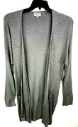 Joseph A Womens Plus Size 1x Ribbed Knit Open Front Cardigan Sweater Long Sleeve