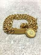 Chain Belts Gold Gld Coin Plate 89㎝ Cocomark Ladies Accessories Auth