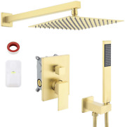 Kes Shower System 10 Inches Rain Shower Head With Handheld Shower Faucets Sets C