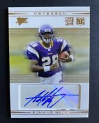 2007 Adrian Peterson Topps Performance Gold Rookie Autograph D 25/25 Rc Auto