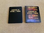 Collectible Legends Of Star Trek Trading Cards Portfolio And Binder 378 Cards