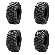 4 Pack Tusk Trilobite® Hd 8-ply Tire 27x11-14 For Bombardier Outlander 650