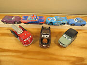 Disney Store Pixar Cars Diecast Matell Lot X7 Low Holly Axelrod Mater Red Sally