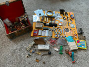 Huge Vintage Junk Drawer Lot Jewelry Knifes Lighters And More
