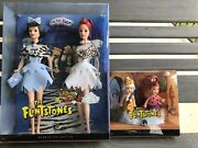 The Flintstones Barbie Silver Label 2008 Lot- Wilma And Betty And Pebbles And Bam Bam