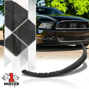 Black Front Lower Bumper Face Bar Lip Spoiler Rp Style For 13-14 Ford Mustang