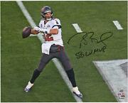 Tom Brady Buccaneers Sb Lv Champs Signed 16 X 20 Action Photo And Lv Mvp Insc