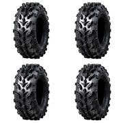 4 Pack Interco Swamp Lite Tire 25x10-12 For Bombardier Outlander Max 650 H.o.