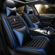 Auto Car Seat Cover Full Set Pu Leather Cushion W/pillow Universal 5-seats Cars