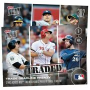 2016 Topps Now 302 Trade Deadline Card 1st Reuse Of Traded Stamp Since 72
