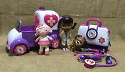 Disney Doc Mcstuffins Rosie The Rescuer Ambulance With Doll Lambie