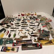 Vintage Fishing Lure And Tackle Lot-vintage New In Box And Used-over 100 + Incl.