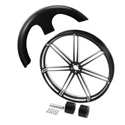 30x3.5and039and039 Front Wheel Rim Hub 30and039and039 Front Fender Fit For Harley Road King 08-21