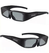 Lot Of 2 Epson Elpgs01 Projector 3d Glasses Model Open Box Never Used