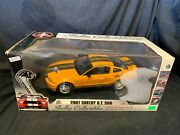 Vintage Cobra 2007 Shelby Gt500 40th Anniversary 1/18 Scale Die Cast Car In Box