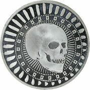 2009 Gsm Golden State Mint Pirate Skull And Palm Tree 1 Oz .999 Fine Silver Round