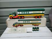 1976 Hess Truck With Box And 3 Oil Barrels Original Inserts Complete L78