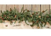 Christmas Garland Artificial Pine Greenery With Pinecones 4 Foot Primitive Decor