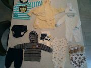 21 Pieces Total- Baby Boy 0-12months Assorted Clothing- Carters Spasilk Kiko...