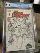 Young Avengers 1 🔥wizard World La Sketch Cgc 9.8 Brand New Case