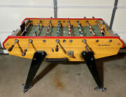 1960and039s Vintage Rene Pierre Foosball Table Soccer Arcade Version Coin Operated