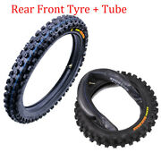 Kenda Front 60/100-14 + Rear 80/100-12 Tires And Tube For Gpx Pitster Cr60r Klx110