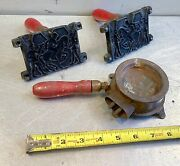 Vtg Home Foundry Mfg Co Toy Lead Soldier Metal Melting Casting Set Molds
