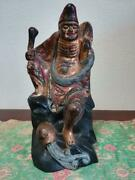 Buddha Statues China Qing Dynasty Wood Carving Colored Figurines Antique