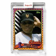 Topps Project 70 Card 620 1989 Willie Mays By Claw Money Presale 620
