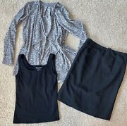 30p Womens Clothing Fall Lot 6/small Career/casual Pants Shirts Skirts Scarves