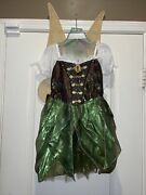 Nwt Disney Store Tinkerbell The Pirate Fairy Zarina Costume Size 7/8 With Wings