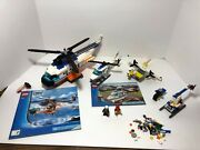 Lego Helicopter Partial Lot Coast Guard 7738 + Police 7741 + Seaplane 3178, Etc